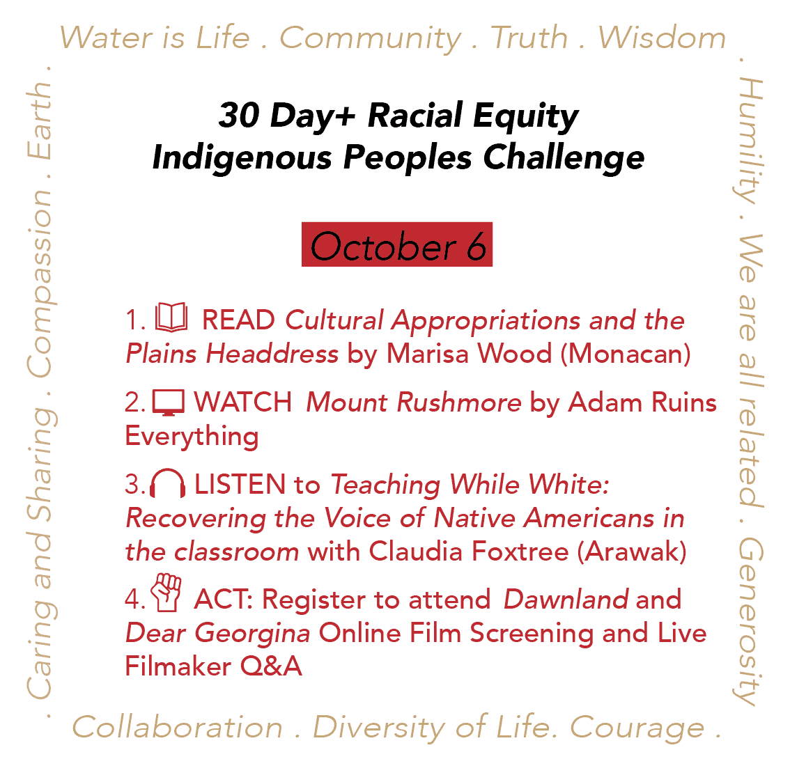 Day 6: Racial Equity Indigenous Peoples Day Challenge